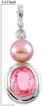 2011: WG 4.27ct Pink Tourmaline dia pearl pen