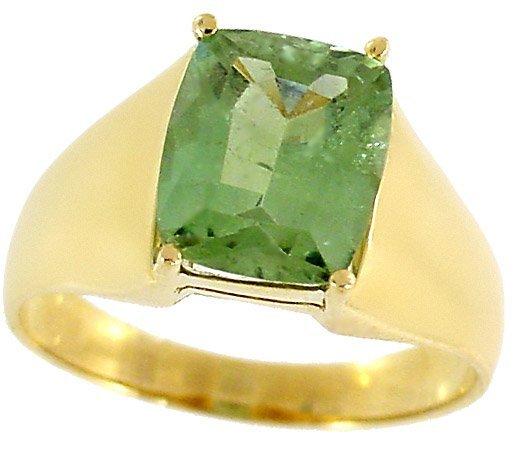 2013: 3ct Mint Green Tourmaline cushion ring