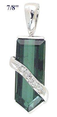 2016: WG 3.25ct green tourmaline diamond pend