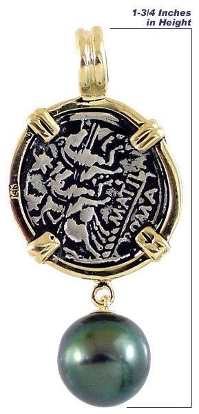 2022: 14k & Silver Anciet Roman Coin Tahitian
