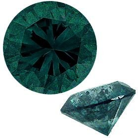 3100: 4.06ct teal Blue diamond 10mm round loose