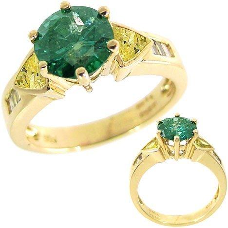 1: 14kt 1.68 Blue .42Yellow Diamond Ring Appraise $6030