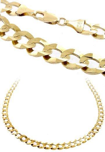 34: 10 Kt YG Mans Cuban link 24inch necklace