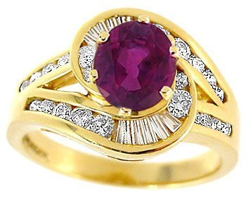 1002: 1.27ct Pink Sapphire .75ct Diamond chan ring