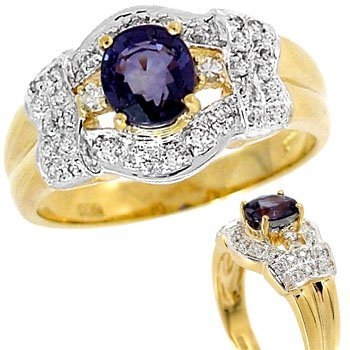 1003: 1.33ct Color Change Sapphire .16dia ring