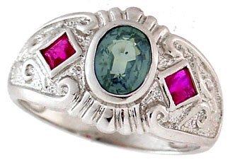 2002: WG 1.16ct Ceylon Sapphire ruby etruscan ring
