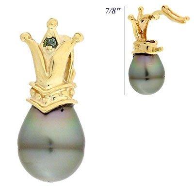 2010: 9.5mm Tahitian Pearl blue Dia Mini Crown pendant