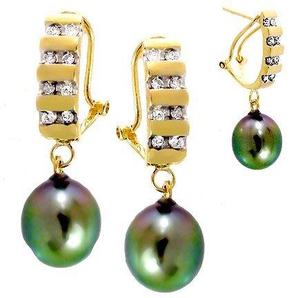 2011: 9/10mm Tahitian Pearl drop .33dia earring