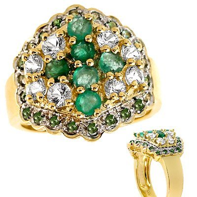 2014: yg 2.05cttw Emerald White Sapphire band ring
