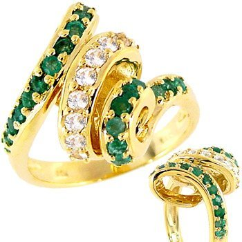2016: 1cttw emerald white sapphire curly ring