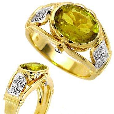 2021: 2.88ct Neon Yellow Tourmaline .13dia ring
