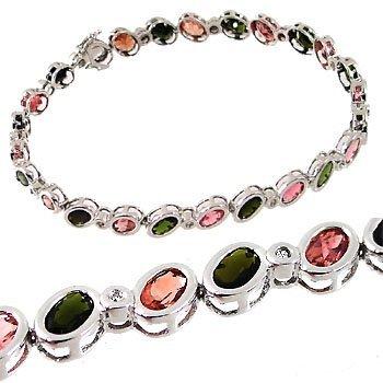 2022: WG 11 pink/grn tourmaline .08dia bracelet 8in