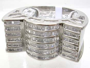 1391: 10KW 1cttw Dia Bagg Bowtie Filligree Mens Ring 11