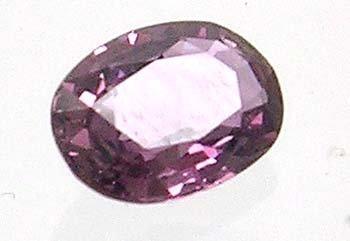 1393: .90ct LOOSE Oval 7 x 4.5mm Purple Sapphire