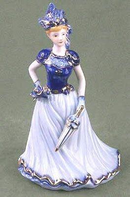 1397: KPM PORCELAIN LADY WITH PARASOL FIGURINE