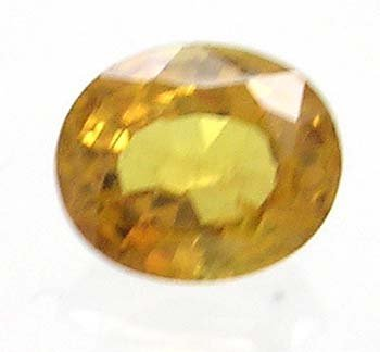 1653: 1.23ct Yellow Sapphire Oval loose gem 7x5.75mm
