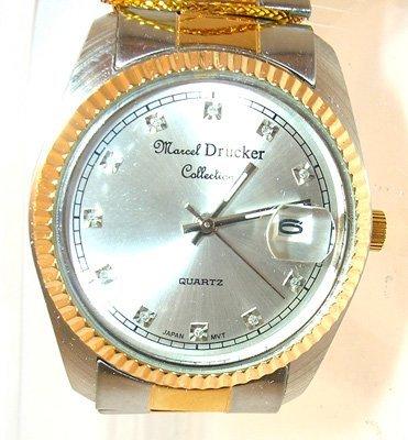 1667: Marcel Druker Two-Tone Diamond Watch