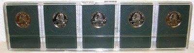 1671: 2000-S 5 State Cameo Quarters PR70 PGS CERTIF