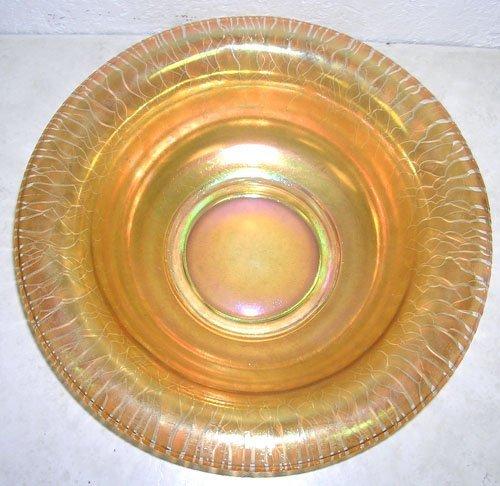 10000: Fenton Art Glass Aurene Finish Centerpiece