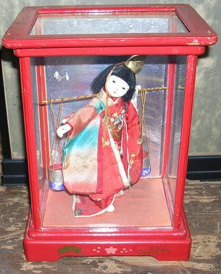 10005: Lovely Japanese Geisha Doll with Water Pails