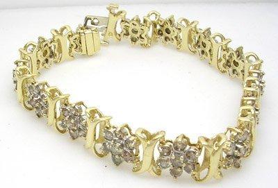 10012: 10KY Yellow Diamond Tennis Bracelet