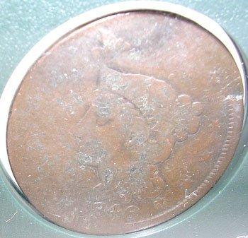 10015: 1846 LIBERTY HEAD LARGE CENT Mint Error Rare Coi