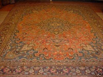 10020: SUPER ANTIQUE PERSIAN MASHAD RUG 10x13
