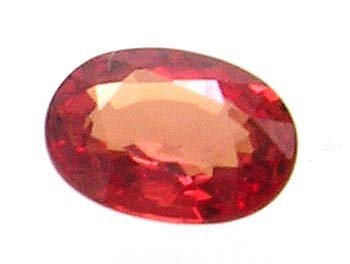 2394: 1ct Red Sapphire oval loose 7x5mm