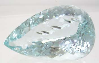 2784: HUGE 35.32ct Aquamarine Pear 29.8x19.5 APPRAISED