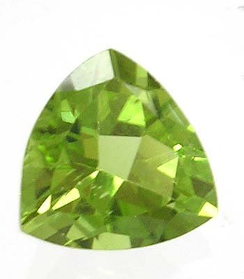 2831: 2.5ct Apple Green Loose Trillion Peridot