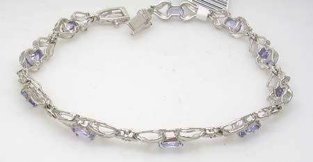 2843A: 14KW 2cttw Tanzanite oval .05ct bracelet