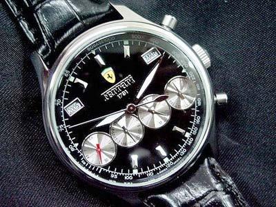2844: FERRARl 4 Chrono Automatic Black Watch Enzo black