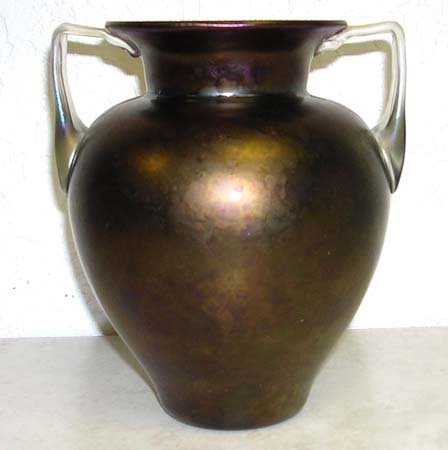 2924: Louis Comfort Tiffany Favrile Glass Vase Signed