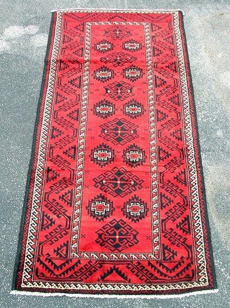 3018: Beautiful Persian Balouch Rug 4x9