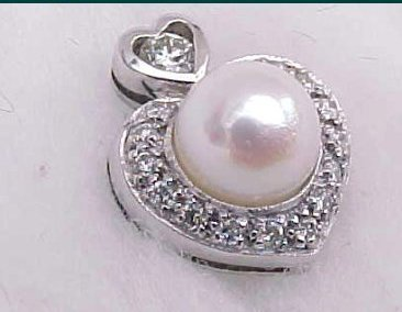 3831: 18kt White Gold PEARL and DIAMOND Earrings