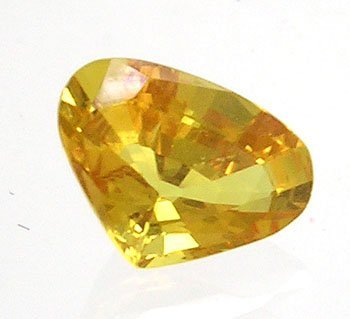 3842: 1.66ct Yellow Sapphire Modified Kite 8.75x6mm