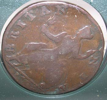 3844: Revolutionary War Relics-Coin-George II-1757