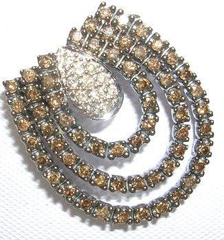 389: 14KW .91cttw Fancy Color Diamond Pendant