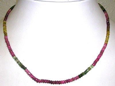 392: 55ct WatermelonTourmaline Beaded Necklace