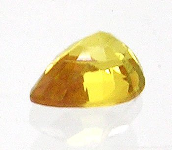 843: 1ct LOOSE Pear Shaped Golden Yellow Sapphire