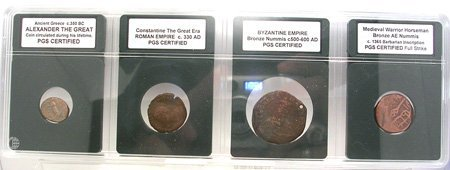 847: PGS CERTIFIED- Ancient to Medieval Coin Set 4