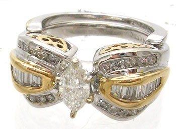 1141: 14KT/T 1.18cttw Diamond Ladies Wedding Ring 10.5g