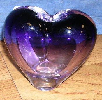 1108: Rosenthal Amethyst Heart Vase