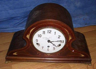1110: Marquetry Inlaid Mantel Clock