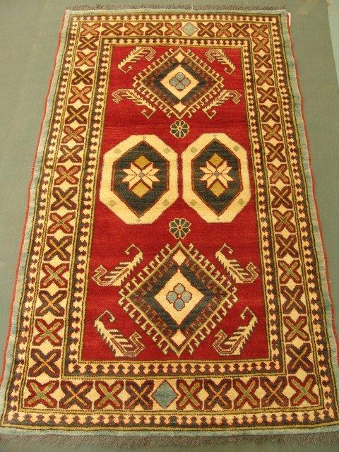 1118: Rare Vegetable Caucasian Kazak Rug 6x4