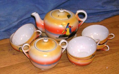 1204: Noritake Windmill Porcelain Tea Set
