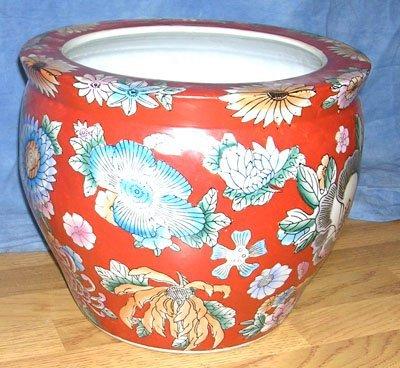 1218: Japanese Floral Fish Bowl