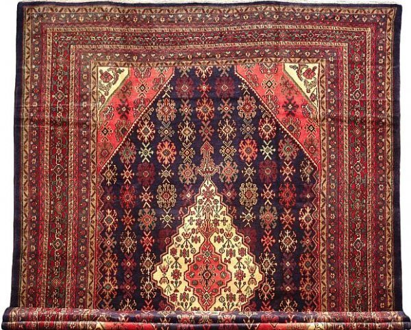 1222: RARE LARGE PERSIAN HOSSEINABAD 9x12