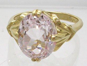 1257: 14KY 4.5ct Kunzite Fancy Ring