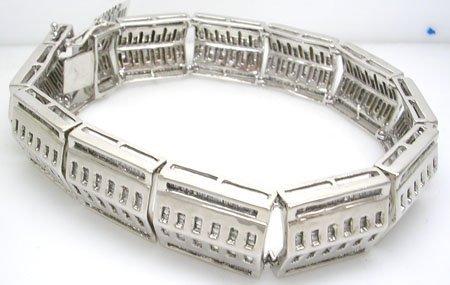 1316: 10KW 7cttw Diamond bagguette channel bracelet